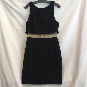 Bailey 44 black mesh cutout dress Large NWT